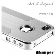 Aluminium - Chrome Hard Case für iPhone 4 / 4S