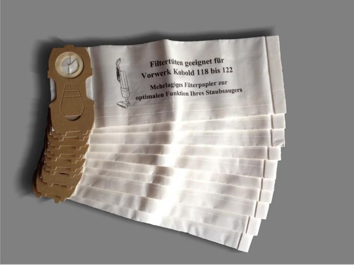 10 Staubsaugerbeutel geeignet für Vorwerk Kobold 118
