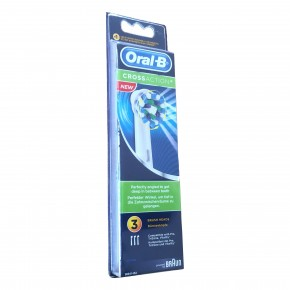 3 Oral B Cross Action Aufsteckbürsten Original Ersatz Bürsten