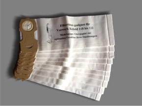 10 Staubsaugerbeutel geeignet für Vorwerk Kobold 122